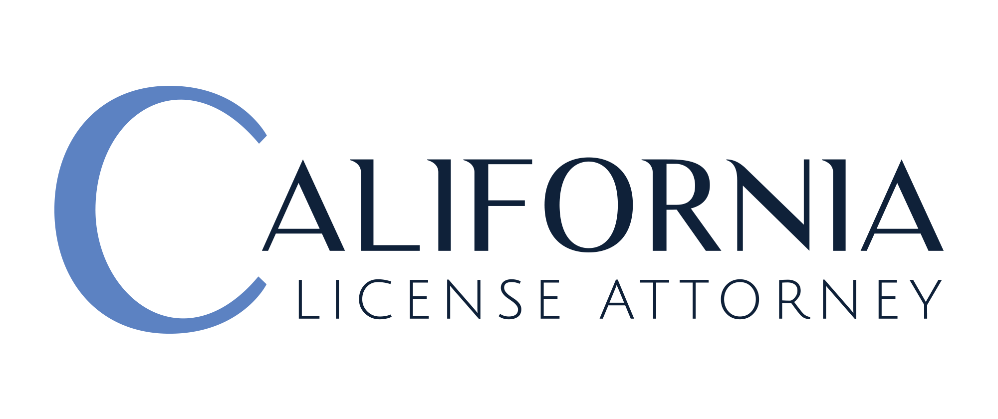 CALIFORNIA LICENSE ATTORNEY    logo